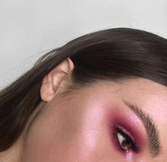 red glow makeup