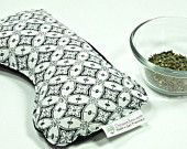 Great Christmas gift! Very unique- made from a rare batik print sarong from Java, Indonesia. Hangover relief peppermint and flax seed eye pillow,  Aromatherapy eye pillow, flax eye pillow, flax heating pad, microwave eye pillow, nausea relief, energizing scent