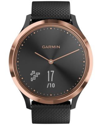 Garmin Unisex Vivomove Hr Sport Black Silicone Strap Touchscreen Smart Watch 43mm Reviews Watches Jewelry Watches Macy S Smart Watch Fitness Watches For Women Sport Watches