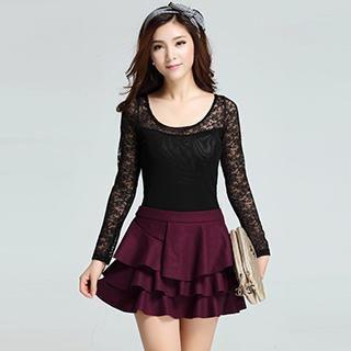Layered A-Line Miniskirt [skirt is so gorgeous]