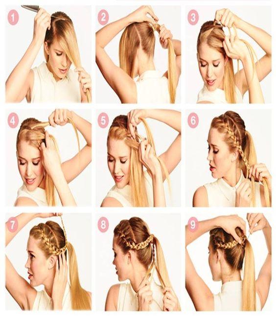 Peinados para adolescentes con trenzas buscar con google - Peinados paso a paso trenzas ...