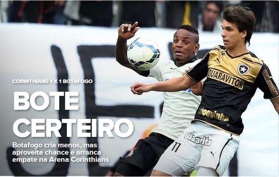 BotafogoDePrimeira: Bota arranca empate no fim e frustra   nova festa ...