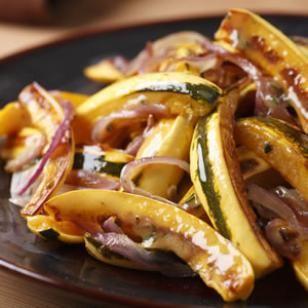 Roasted Delicata Squash & Onions