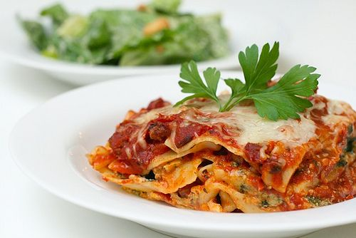 This is my favorite lasagna recipe that I've tried so far. Great ratio of meat, sauce, and cheese. Highly recommend it!