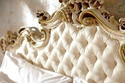 Gold Tufted Headboard Ornate White And Gold Tufted Headboard Tufted Headboards Gold Headboard Quilte Tufted Headboard Beautiful Headboards Boutique Hotel Paris