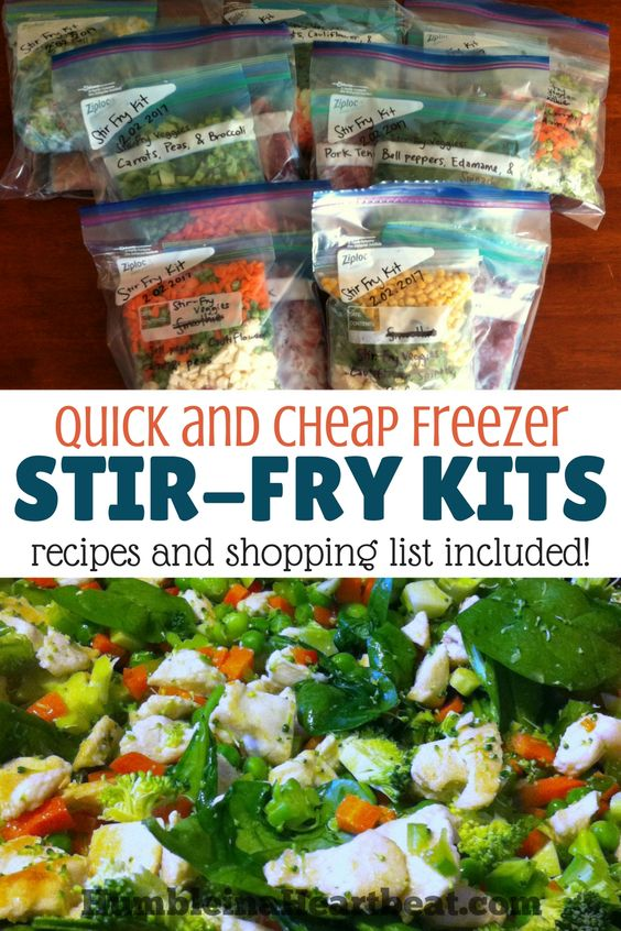 How to Make Healthy and Delicious Freezer Stir-Fry Kits