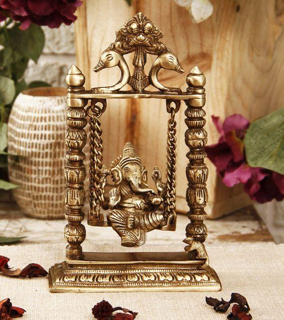 brass ganesha on jhula creative gifts diy pinterest