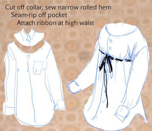 Refashion mens shirt via Whipup