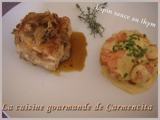 Râble de lapin au thym  http://www.carmen-cuisine.com/article-rables-de-lapin-au-thym-70523781.html