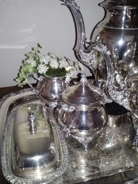 Simple floral touch to elegant silver by Superior Hy-Vee