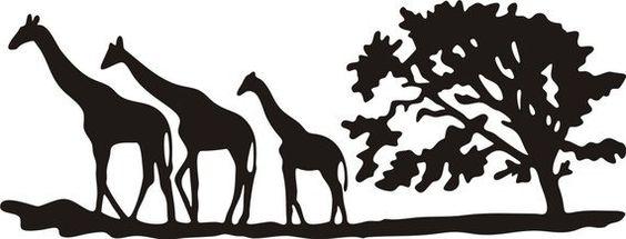 3 Giraffen Safari Laptop Sticker Aufkleber schön von BoopDecals
