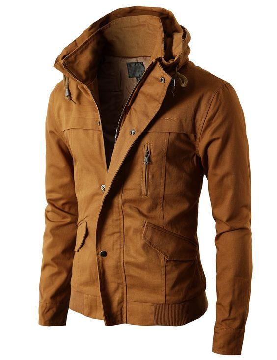 Mens High-neck Field Jackets without Hood (KMOJA024) - DOUBLJU