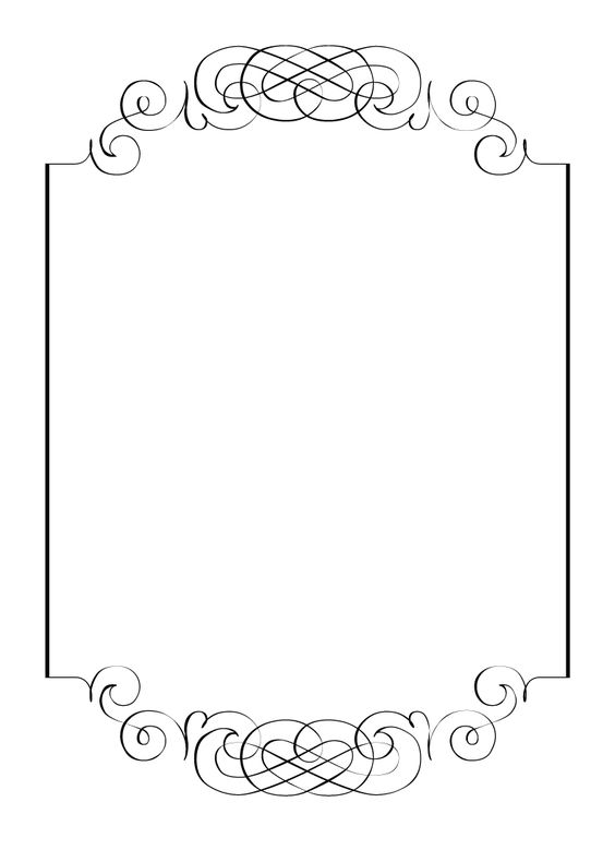 Free vintage clip art images Calligraphic frames and borders – Free Invitation Clipart