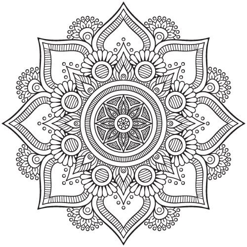 Floral Indian Mandala Coloring Pages Pdf Mandala Vector Mandala Coloring Pages Mandala Coloring