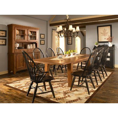 Broyhill Attic Heirlooms 9 Piece Extendable Dining Set Dining Room Furniture Sets Primitive Dining Rooms