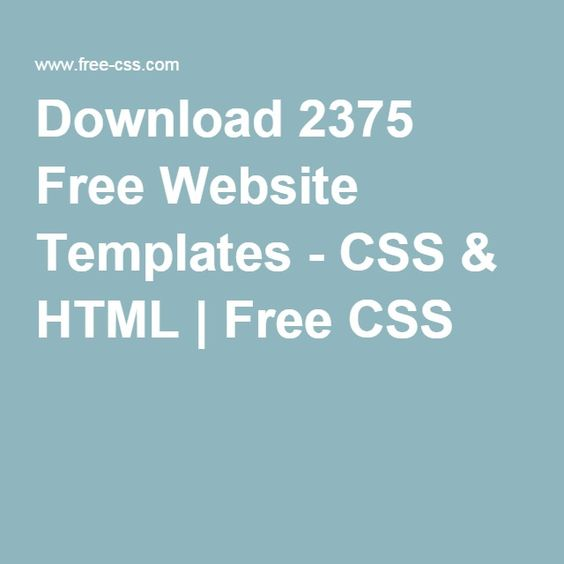 Download 2375 Free Website Templates - CSS & HTML   Free CSS