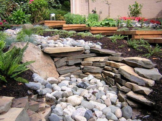 dry river beds rock garden ideas Nice Custom River Rock Garden