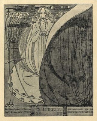 Ex libris by Frances Macdonald (Scot) for anon., 1898