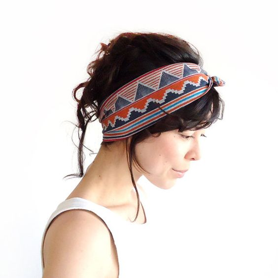 Tie Up Headscarf Tribal by ChiChiDee on Etsy