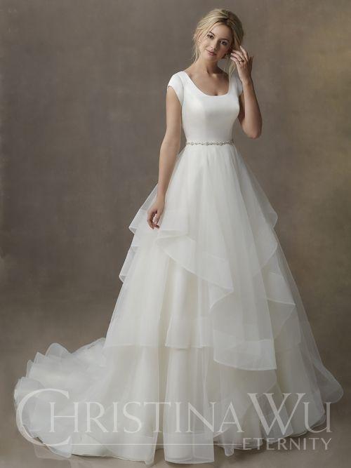 Modest Wedding Dress From Fantasy Bridal Modest Ballgown Scoop