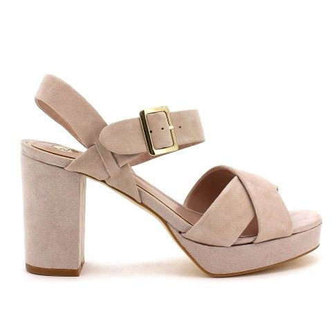 LORD nude suede leather block heel sandals OffDuty SS14