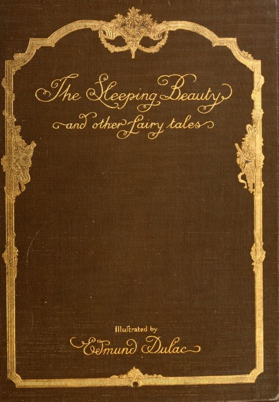 Minimalist Fairy Tale Book Covers : Vintage book covers the sleeping beauty and other fairy