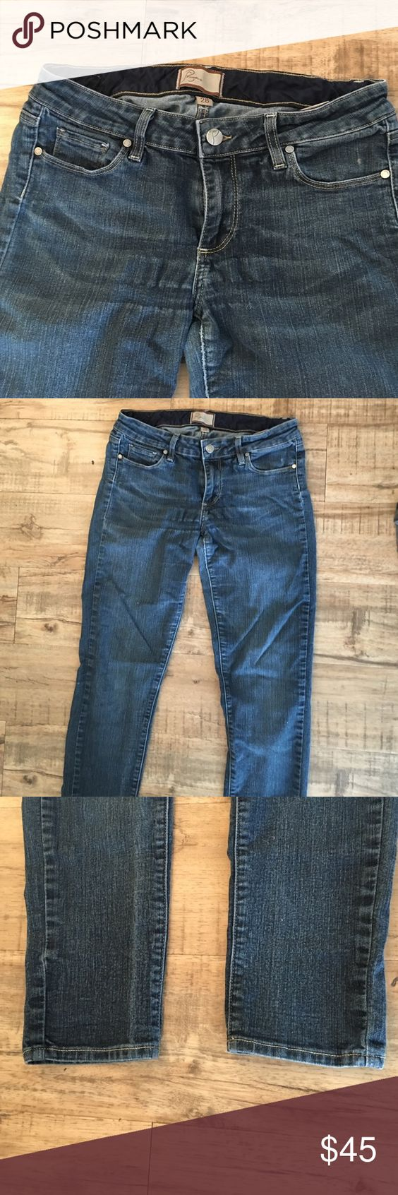 Paige dark denim jeans Dark denim, size 28 Paige jeans. No rips or holes. Paige Jeans Pants Straight Leg