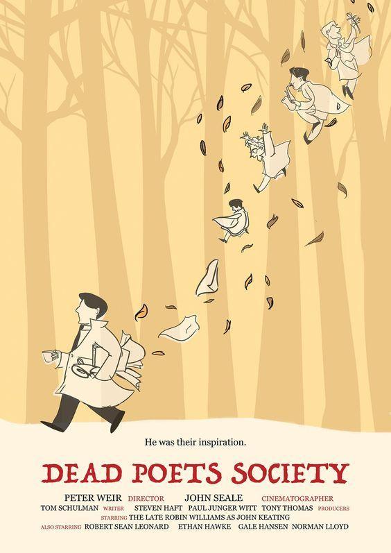 DEAD POETS SOCIETY ROBIN WILLIAMS MOVIE POSTER FILM A4 A3 ART PRINT CINEMA