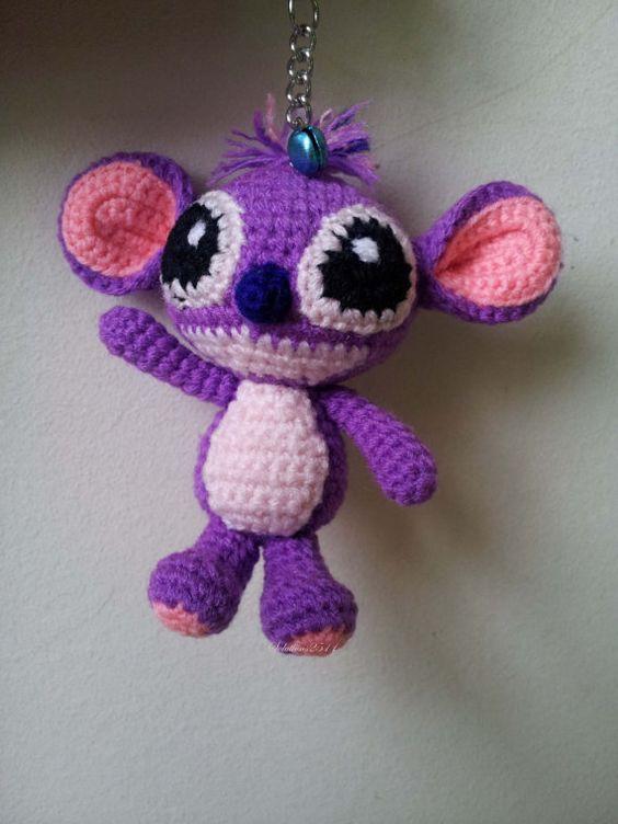 Crochet Zipper Stitch : Stitch crochet Key Chain/ backpack zipper ? by Solutions2511