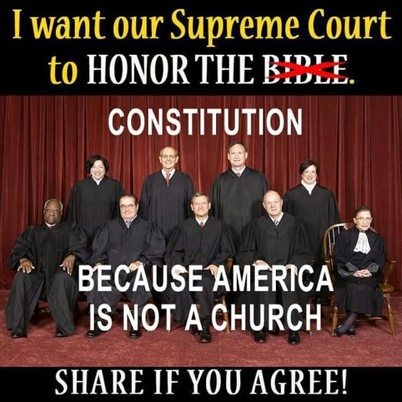 Don't mix politics and religious beliefs!