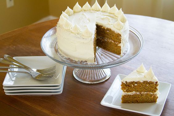 Sweet Potato Cake with Honey Butter Cream Frosting