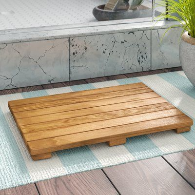 Beachcrest Home Nakasi Shower Mat Size 1 5 H X 16 W X 24 L In