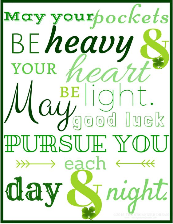 Free St. Patrick's Day printables available on the blog! Stop by and check them out. Download your PDF! | TheOrganizedDream.com: