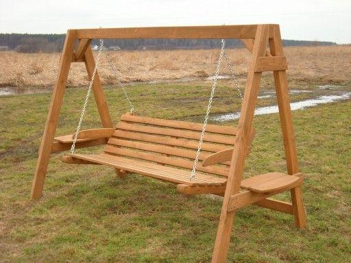 Hustawka Ogrodowa Z Drewna Siedzisko Bujak Diy Home Improvement Outdoor Decor Porch Swing