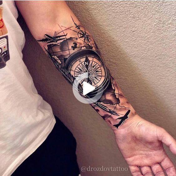 Tatuaje De Muneca Tatuaje De Brujula Tatuaje De Brujula De