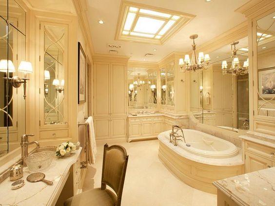 Master bathroom layout design best elegant master for Elegant master bathroom designs