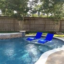 A inground pool with tanning ledge designs bing images for Pool design with tanning ledge