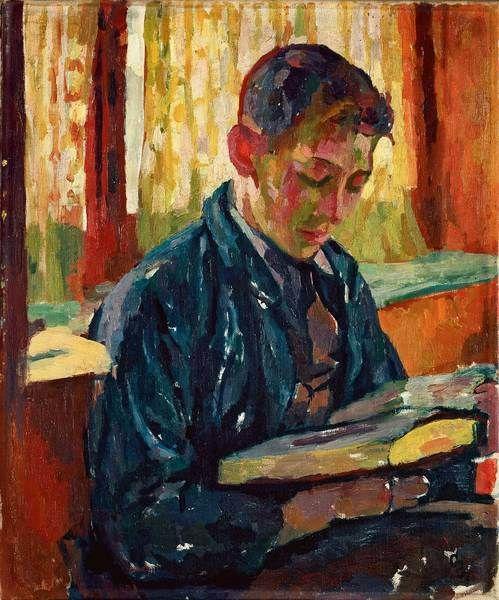 Alberto lendo, 1915, Giovanni Giacometti (Suíça, 1868-1933), óleo sobre tela, Museu de Belas Artes do Cantão de Lausanne -