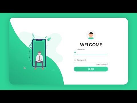 302 Responsive Animated Login Form Using Html Css Javascript 2020 Youtube In 2020 Login Form Javascript Html Css