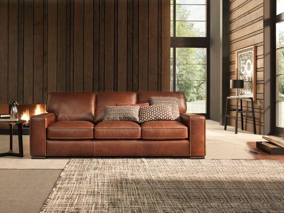 Chọn mua sofa da ở đâu cho phòng khách thiết kế mở