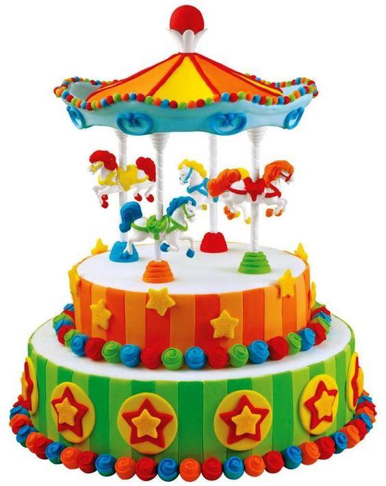 how to make a carousel cake rotate