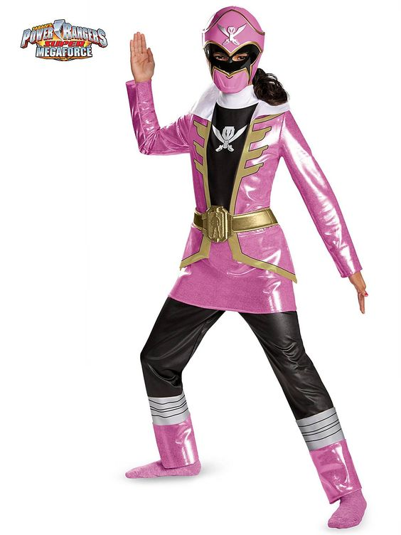 Pink Power Ranger Super Mega Deluxe Girl's Costume! See more #costume ideas for Halloween and more at CostumeSuperCenter.com