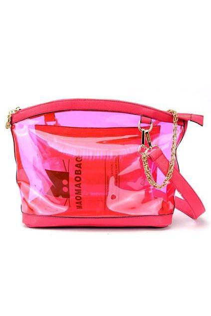Beautiful Transparent Candy Shoulder Bag