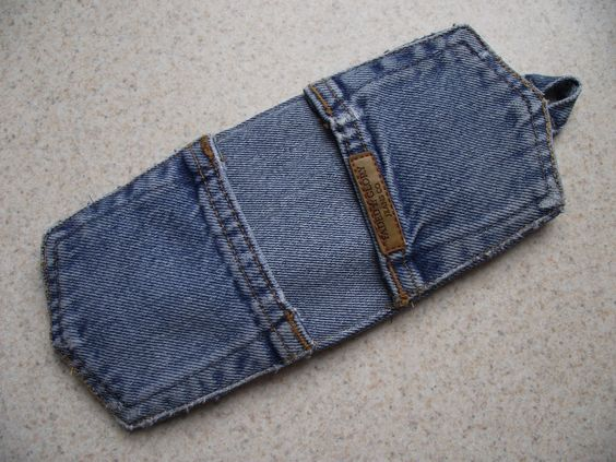 Years ago, when my children were toddlers, I saved the pockets from the backs of their worn-out jeans. Why? I don't know! I guess I thought they were cute. At any rate, I pulled two of them out of ...: