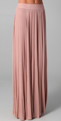 Seam Rib Maxi Skirt   heels could help make maxi skirts like this work for a short girl like me! lol