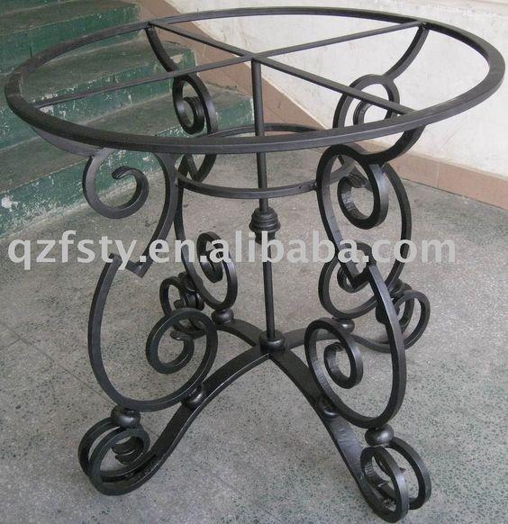 Mesa de hierro forjado algo mas pinterest mesa de for Mesas de hierro forjado y madera
