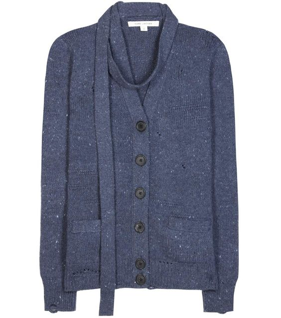 MARC JACOBS Distressed Wool And Cashmere Cardigan. #marcjacobs #cloth #cardigan
