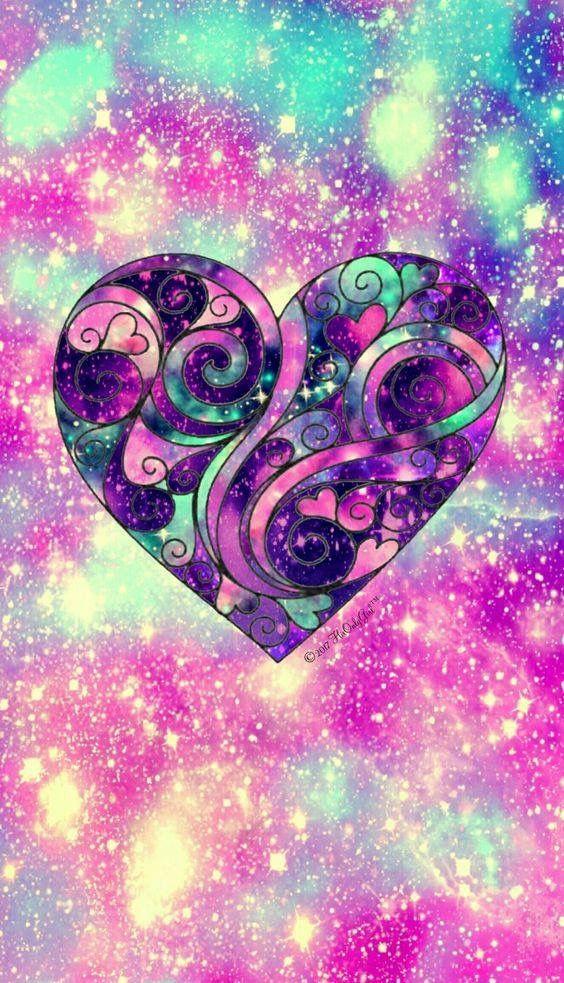Beautiful Heart Cute Galaxy Wallpaper Galaxy Wallpaper Heart