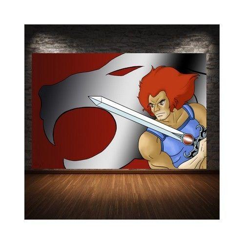 peint à la main sur tissus   Thundercats (Cosmocats)