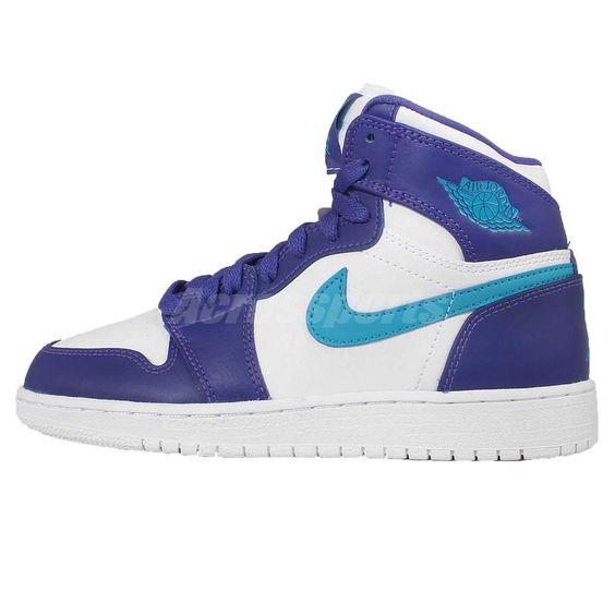 Nike Air Jordan 1 Retro High BG GS Hornets Girls Boys Womens Shoes 705300-442